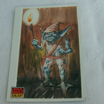 Star Wars Galaxy 1993 Topps #32 Yoda as Gremlin Trading card